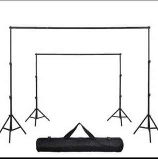 Adjustable Backdrop Stand (2.6m x 3m) + White Backdrop