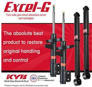 KYB Gas Excel-G Front AND Rear Shock absorbers