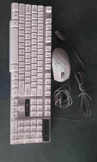 Mechanical  game keyboard and mouse set