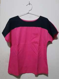 Cotton Ink Pink Black Top
