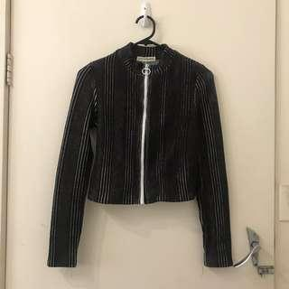 BNWT Black and White Zip Up Top