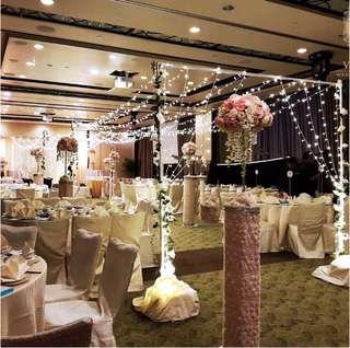 🚚 [Sellabrations] 3m x 3m Heavy Duty Silver Flower Arch Fairy Lights Canopy