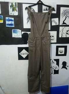 #bersihbersih new jumpsuit playsuit romper baju kodok dark grey