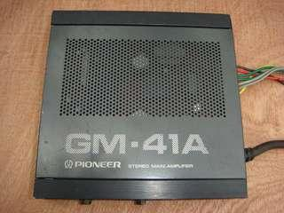 GM 41-A Pioneer Stereo Main Amplifier - rare item