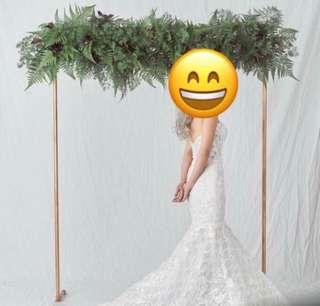 🚚 [Sellabrations] 2m x 2m Customised Gold Wedding Arch