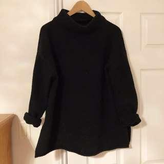 *PRICE DROP* Oak and Fort Black Turtle Neck Sweater