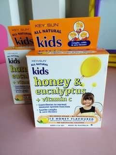 Key Sun All Natural Honey Flavored Lozenges for Kids