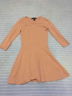 Forever 21 peach skater dress
