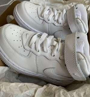 Nike Air Force 1 Mid Cut White Sneakers