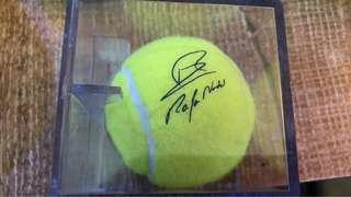 Rafael Nadal signed tennis ball