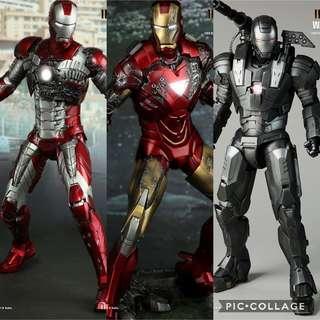HOT TOYS Iron Man 2 Mark 5 6 War Machine Mark 1