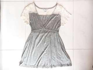 Cotton On Lace Grey Shirt / Dress (PRICE REDUCED)