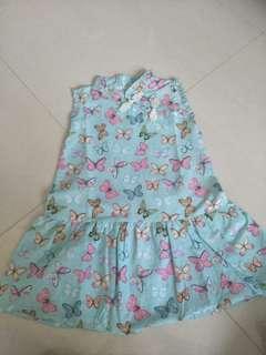 Printed Cheongsam dress