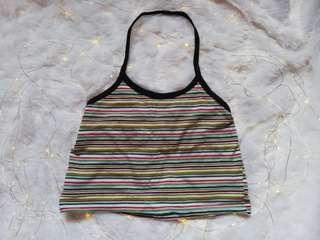 Rainbow halter crop top