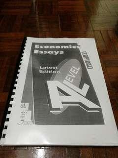 Economic Essays for A levels