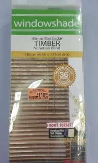 *New* Wooden Timber Venetian Window Blinds 180x137cm