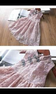 Lace flare Cheong sam