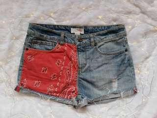 Forever21 Paisley denim shorts