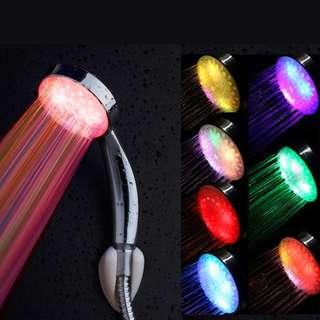 7 Colors LED Shower Head Rainfall Water Water Saving Flow