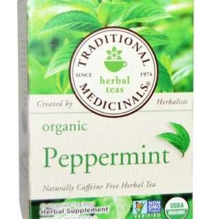 Organic Peppermint herbal tea