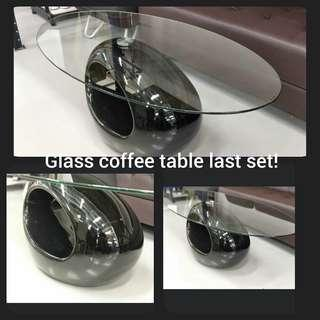 Coffee table glass black INSTOCK!