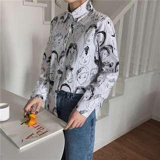 Faces Prints Shirt
