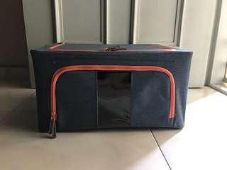 Zipper denim storage box