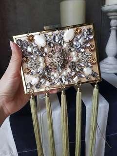 Gold embellished Dinner Clutch