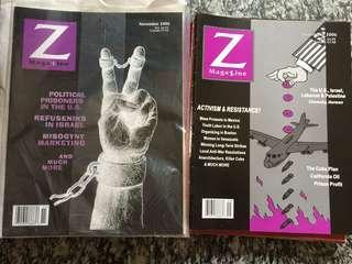 Z magazine with Noam Chomsky etc