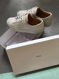 🚚 Lenger (Paris) EU39 Olive Leather Sneakers