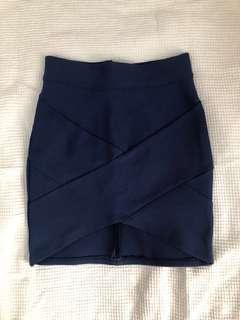 Navy Bodycon Skirt - Size 6/XS