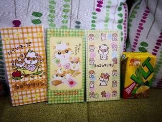 日本sanrio絕版ck鼠corocorokuririn2002年靚靚長利是封3包連貼纸(罕有)