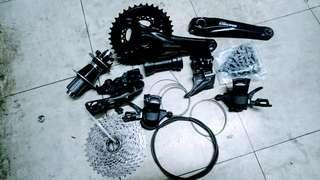 Deore groupset 2x10 S w /rear hub