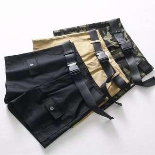 HIGH WAIST CARGO SHORTS WITH FRONT POCKETS