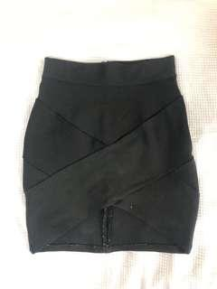Black Bodycon Skirt - Size 6/XS