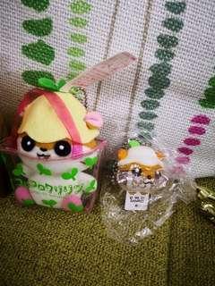 日本sanrio絕版ck鼠corocorokuririn2001年靚靚毛公仔+風鈴匙扣共2件(罕有)