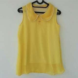 blouse kuning #bersihbersih