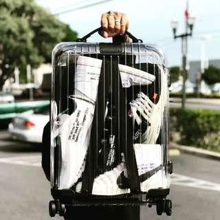 "🚚 ✔INSTOCK 20"" Cabin Size Transparent Clear Polycarbonate Luggage Suitcase"