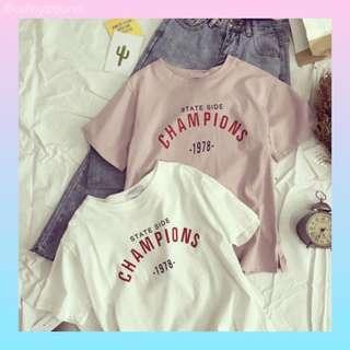 🚚 [po] champions tshirt