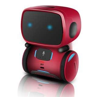 2019 RC Robot With Voice Control, New Touch Sensing Interactive Smart Robot Toys, Music Robot with Colorful LED Flashing, Recording, Changing Sound, Dancing, Singing for Kids