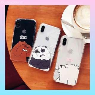 🚚 [po] clear we bare bear phone case