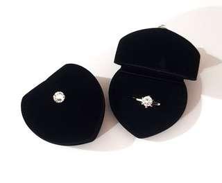Swarovski Crystal Black Velvet Ring Box