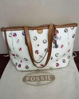 Fossil shopper multi white