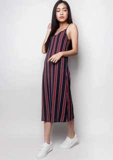 Midi Slip Stripe Dress