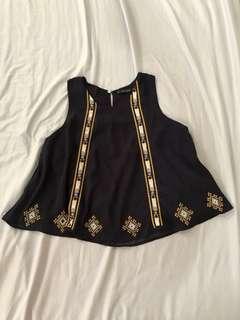 Zara Embroidered Sleeveless