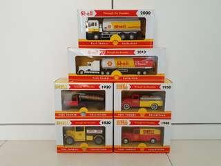 Shell toys collectible petrol trucks through the decades - brand new factory sealed
