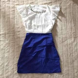 OFFICE x FORMAL DRESS WITH ACCESSORY