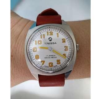 Tressa Hand Wind Swiss Watch