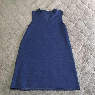 Navy Blue Collar Dress