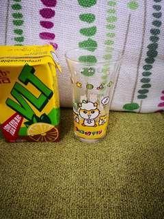日本sanrio絕版ck鼠corocorokuririn2001年靚靚玻璃杯1隻